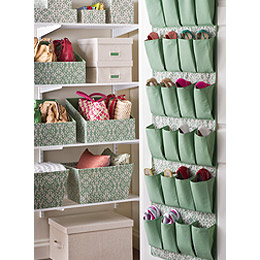 Delightful Colorful Closet Organizers