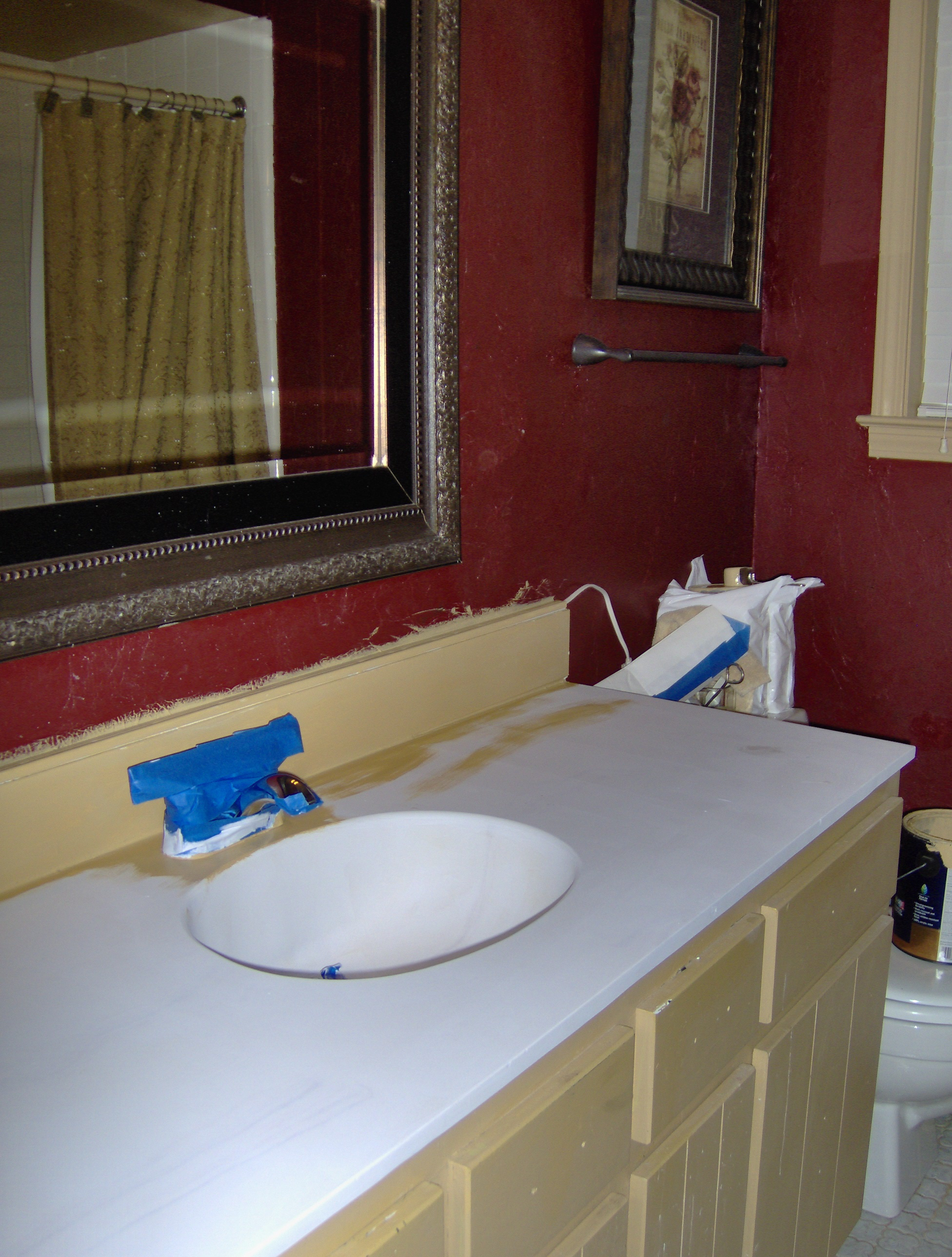 Painting A Vanity Top Diy