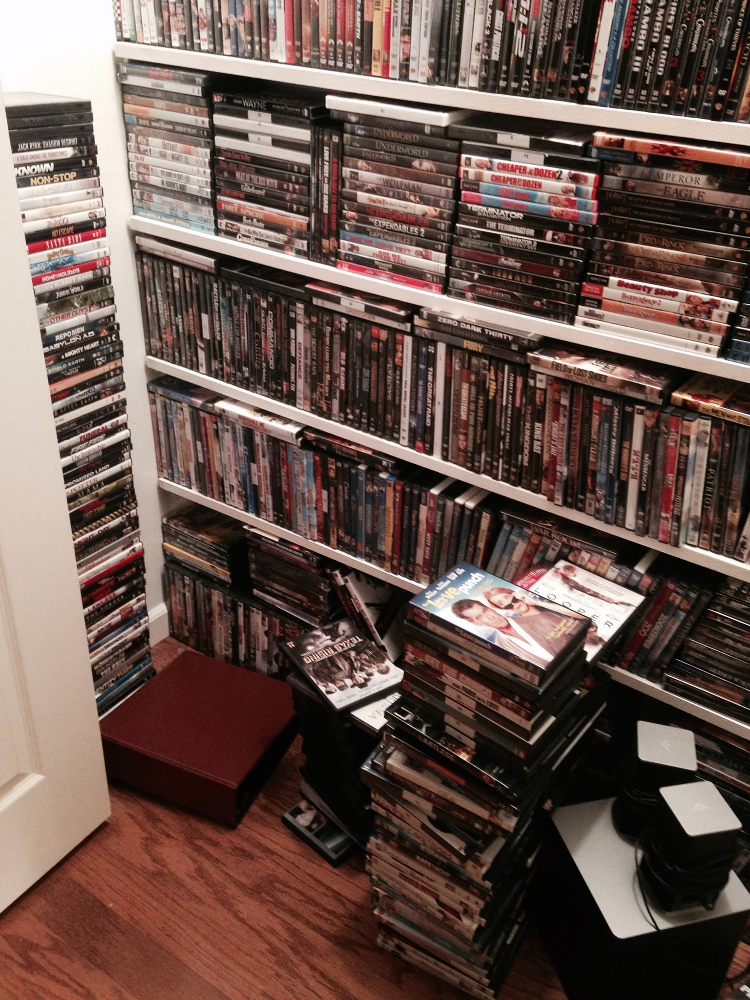 Organizing DVDs, DVD sleeves, organizing movies